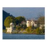 Francia, el río Rhone, ciudad cerca de Vienne 2 Postales