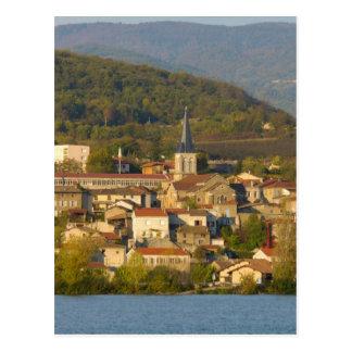 Francia, el río Rhone, ciudad cerca de Vienne Postales
