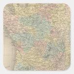 Francia en 1789 2 calcomanías cuadradass