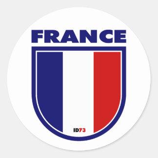Francia Etiquetas Redondas