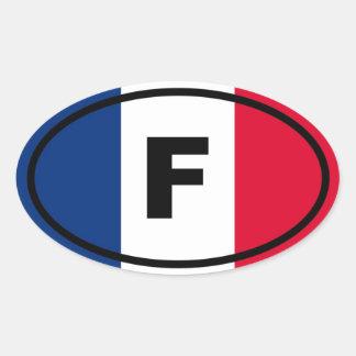 Francia - F - europeo Pegatina Ovalada