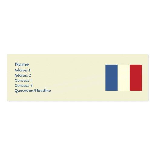 Francia - flaca tarjetas de visita mini