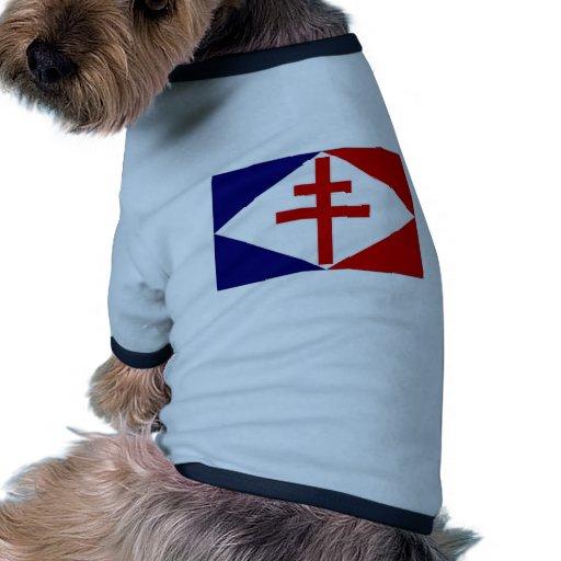 Francia FNFL Jack Camiseta Con Mangas Para Perro