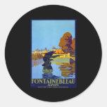 Francia Fontainebleau Avon Etiqueta Redonda