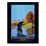 Francia Fontainebleau Avon Tarjeta Postal
