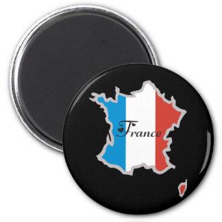 Francia fresca imán redondo 5 cm