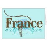 Francia fresca tarjeta