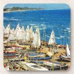 Francia, Hyeres, Var, puerto y puerto deportivo Posavasos De Bebidas