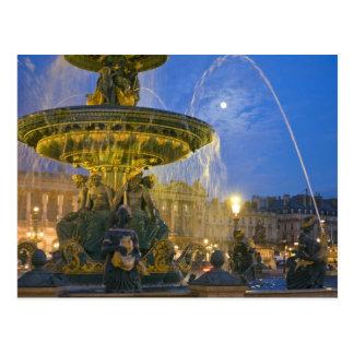 Francia, Ile de France, París, lugar de Concorde, Tarjeta Postal