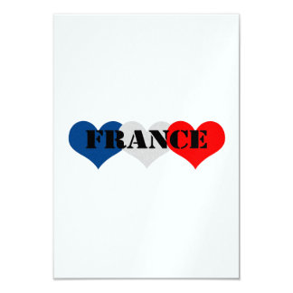 """Francia Invitación 3.5"""" X 5"""""""