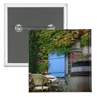 Francia, Les Baux de Provence, patio del café Pin Cuadrada 5 Cm