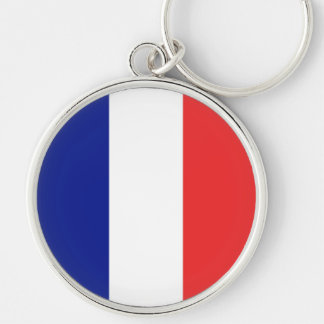 Francia Llavero Redondo Plateado