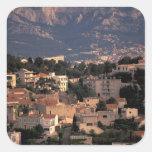 Francia, Marsella, Provence. Suburbios Pegatina Cuadrada