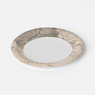 Francia meridional plato de papel de 7 pulgadas