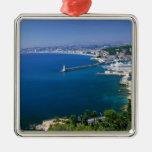 Francia, Niza, aérea vista del puerto Ornamento De Navidad