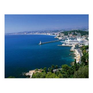 Francia, Niza, aérea vista del puerto Postal