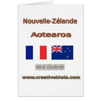 Francia, Nouvelle-Zélande Tarjeta De Felicitación