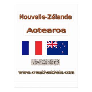 Francia, Nouvelle-Zélande Tarjeta Postal
