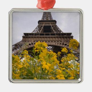 Francia, París 2 Adorno Cuadrado Plateado
