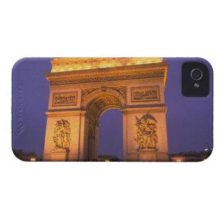 Francia, París, Arco del Triunfo en la oscuridad iPhone 4 Protectores