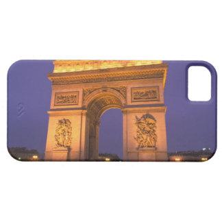 Francia, París, Arco del Triunfo en la oscuridad iPhone 5 Funda