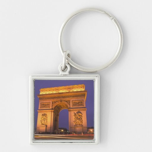 Francia, París, Arco del Triunfo en la oscuridad Llaveros Personalizados