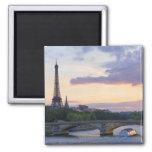Francia, París, barco del viaje en el río el Sena, Iman De Nevera