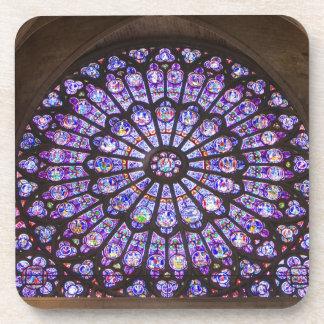 Francia, París. Detalle interior del vitral Posavasos De Bebidas