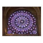 Francia, París. Detalle interior del vitral Postal