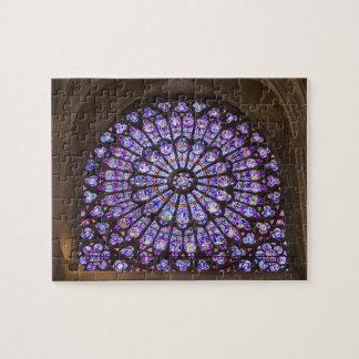 Francia, París. Detalle interior del vitral Puzzles Con Fotos