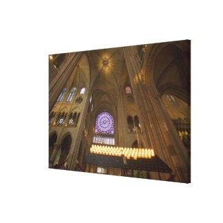 Francia, París. Interior de la catedral de Notre D Impresiones En Lona Estiradas