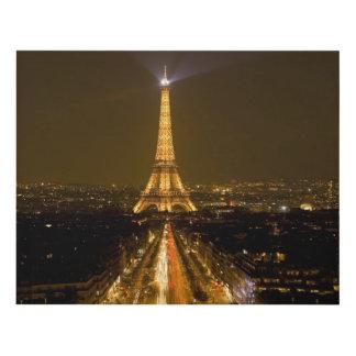 Francia, París. Opinión de la noche de la torre Cuadro