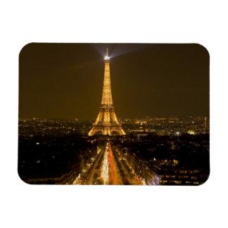Francia, París. Opinión de la noche de la torre Ei Imanes De Vinilo