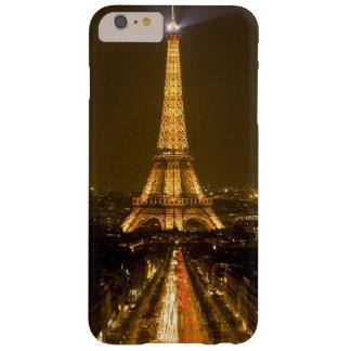 Francia, París. Opinión de la noche de la torre Funda Para iPhone 6 Plus Barely There