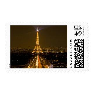 Francia, París. Opinión de la noche de la torre Franqueo