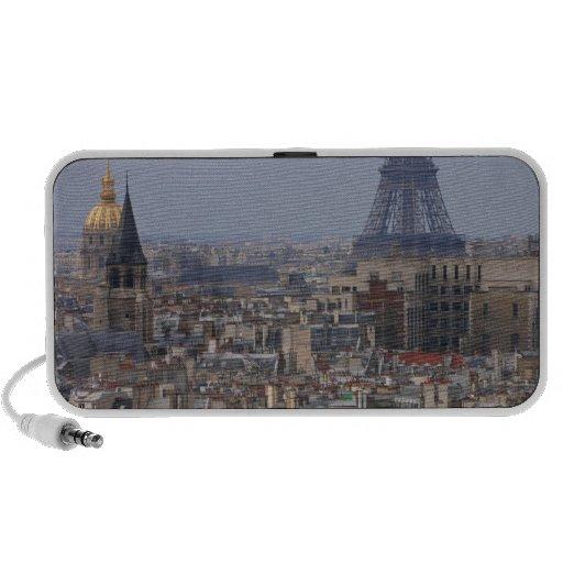 Francia, París, paisaje urbano con la torre Eiffel Altavoces De Viaje
