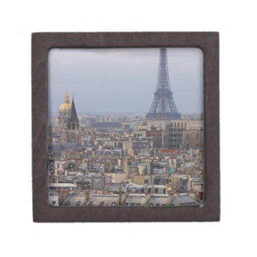 Francia, París, paisaje urbano con la torre Eiffel Caja De Regalo De Calidad