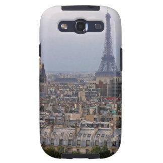 Francia, París, paisaje urbano con la torre Eiffel Galaxy SIII Protector