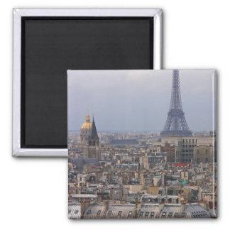 Francia, París, paisaje urbano con la torre Eiffel Imán Cuadrado