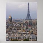 Francia, París, paisaje urbano con la torre Eiffel Impresiones