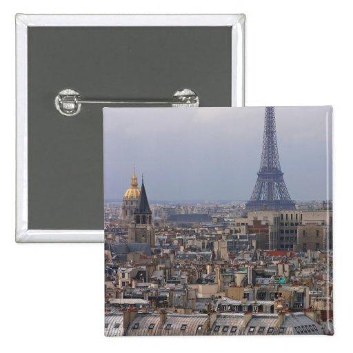 Francia, París, paisaje urbano con la torre Eiffel Pin