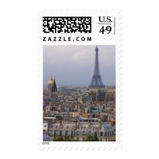 Francia, París, paisaje urbano con la torre Eiffel Sello