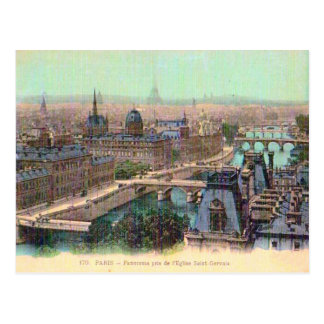 Francia, París, río el Sena Tarjeta Postal
