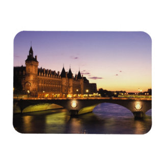 Francia, París, río el Sena y Conciergerie en Imanes Rectangulares