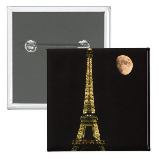 Francia, París. Torre Eiffel en la noche con Pin Cuadrado
