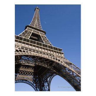 Francia, París, torre Eiffel, opinión de ángulo Tarjetas Postales