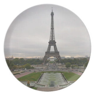 Francia, París, torre Eiffel Plato