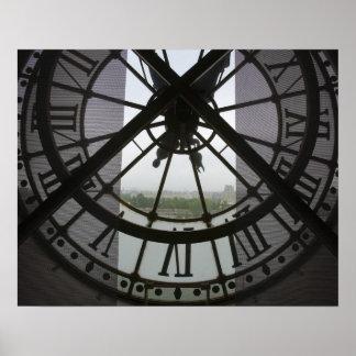 Francia, París. Visión a través de río Sena a trav Póster