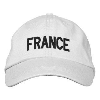 Francia personalizó el gorra ajustable gorra bordada
