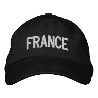 Francia personalizó el gorra ajustable gorras bordadas